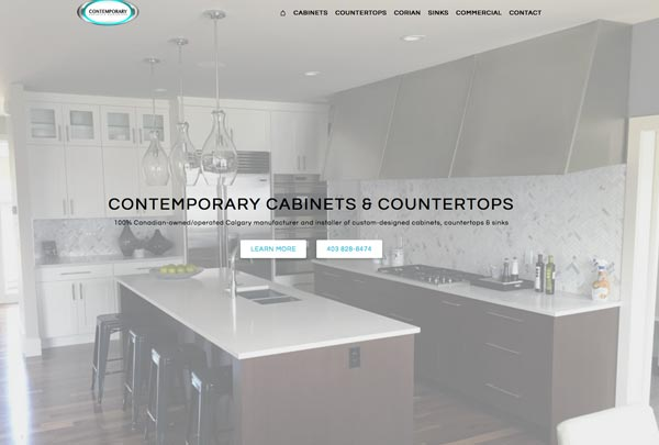 Contemporary Countertops and Cabinets Calgary